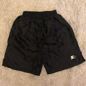 Soccer Shorts Starter boys sz 8 black plaid split